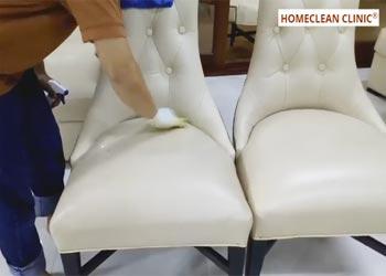 kỹ thuật vệ sinh ghế da homeclean clinic