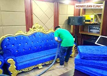 dịch vụ giặt ghế salon vải nhung