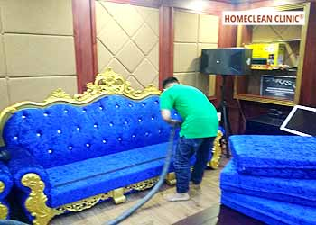 dịch vụ giặt ghế sofa vải nhung