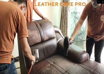 Quy trình nhuộm, sơn phục hồi màu ghế Sofa da cao cấp-leather-care-pro