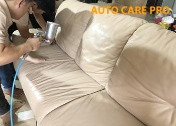 Phục hồi màu ghế Sofa da cũ bị bạc màu, rạn nứt
