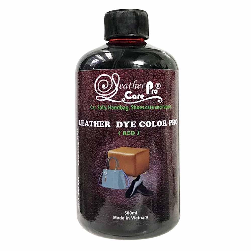 Màu nhuộm da Bò, màu nhuộm ghế da ô tô, giày da – Leather Dye Color Pro (Red)