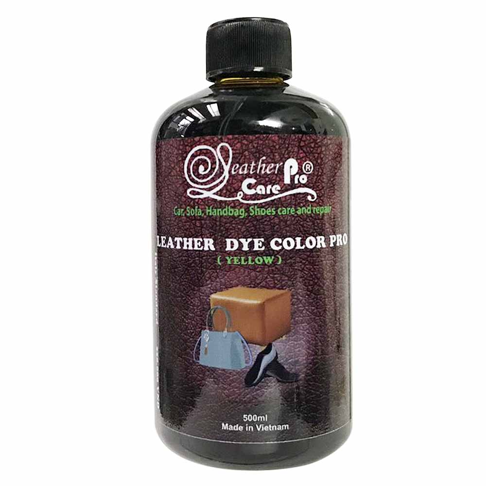 Màu nhuộm da bò, màu nhuộm ghế da Sofa – Leather Dye Color Pro (Yellow)