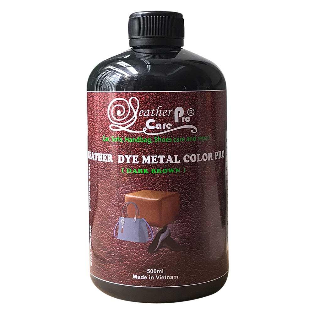 Thuốc nhuộm túi xách da, thuốc nhuộm da Bò – Leather Dye Metal Color Pro (Dark Brown)