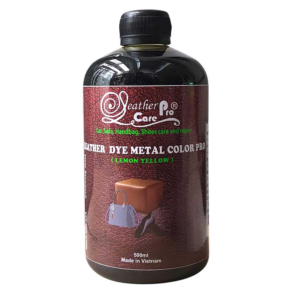Thuốc nhuộm da Bò, thuốc nhuộm túi xách da – Leather Dye Metal Color Pro (lemon yellow)