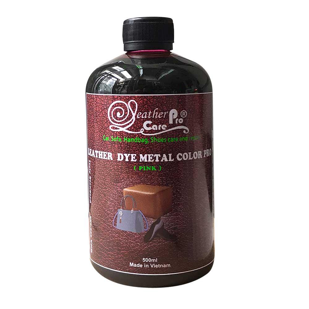 Màu nhuộm túi xách da, thuốc nhuộm da Bò – Leather Dye Metal Color Pro (Pink – Burgundy)