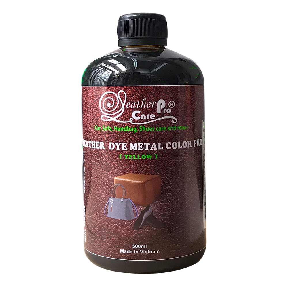 Thuốc nhuộm da Bò, thuốc nhuộm giày da – Leather Dye Metal Color Pro (Yellow)